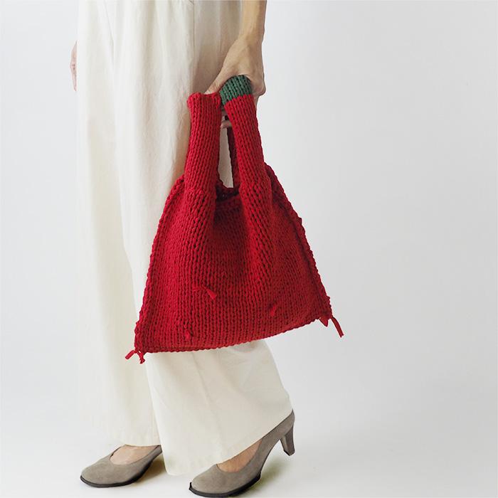 制作例赤いバッグ