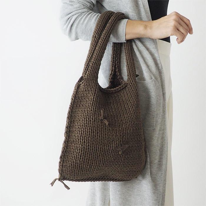 制作例ココアブラウンカラーのバッグ